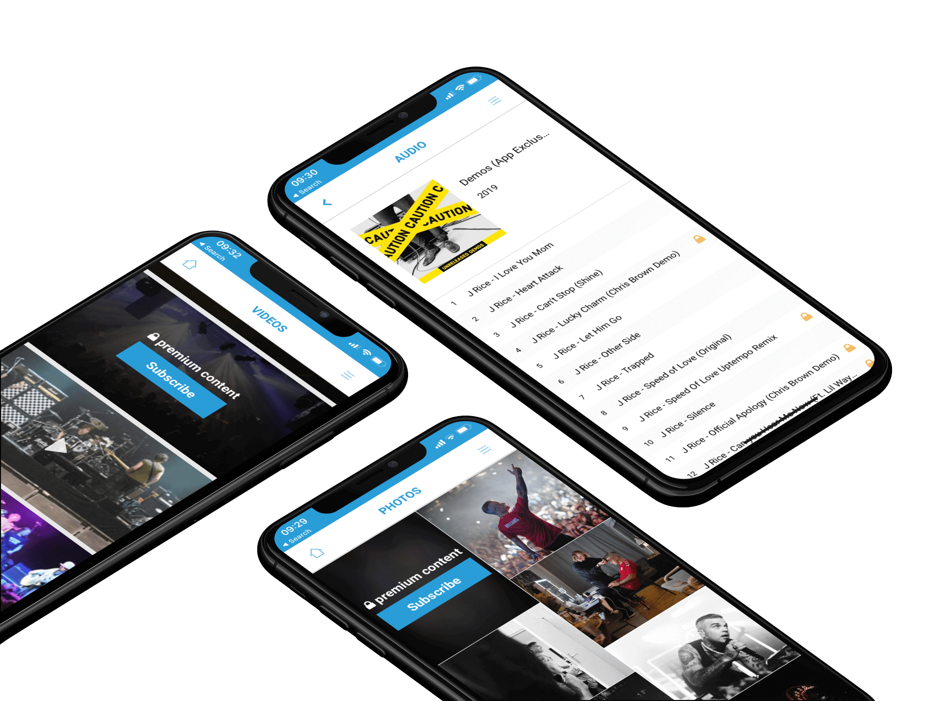 mockup of three iphones xs max lying on a customizable background 253 el Why Fan Apps?