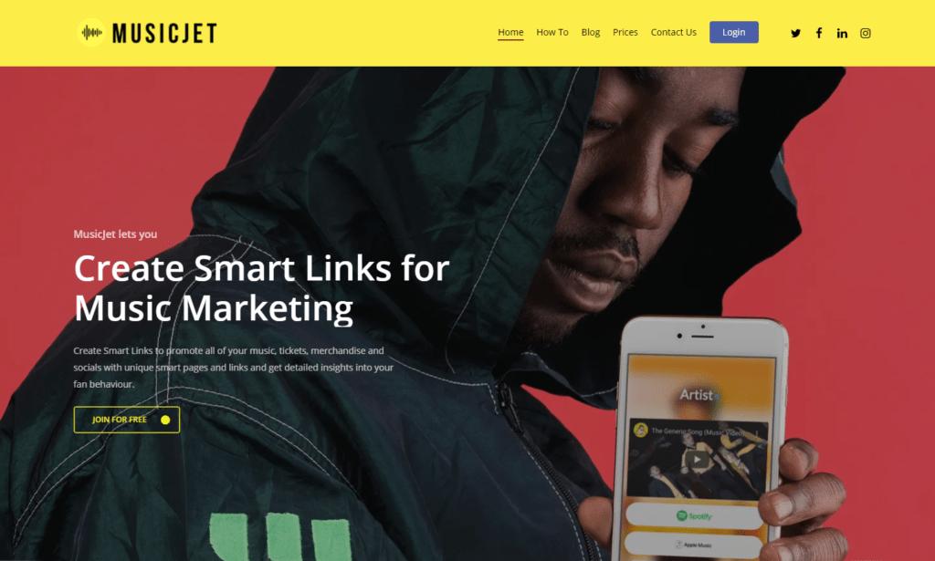 musicjetscreen Smart Links